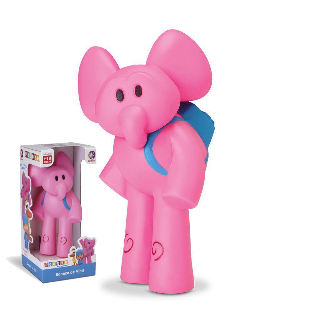 Boneco Pocoyo de Vinil - Figura Elly Elefante - Cardoso Toys