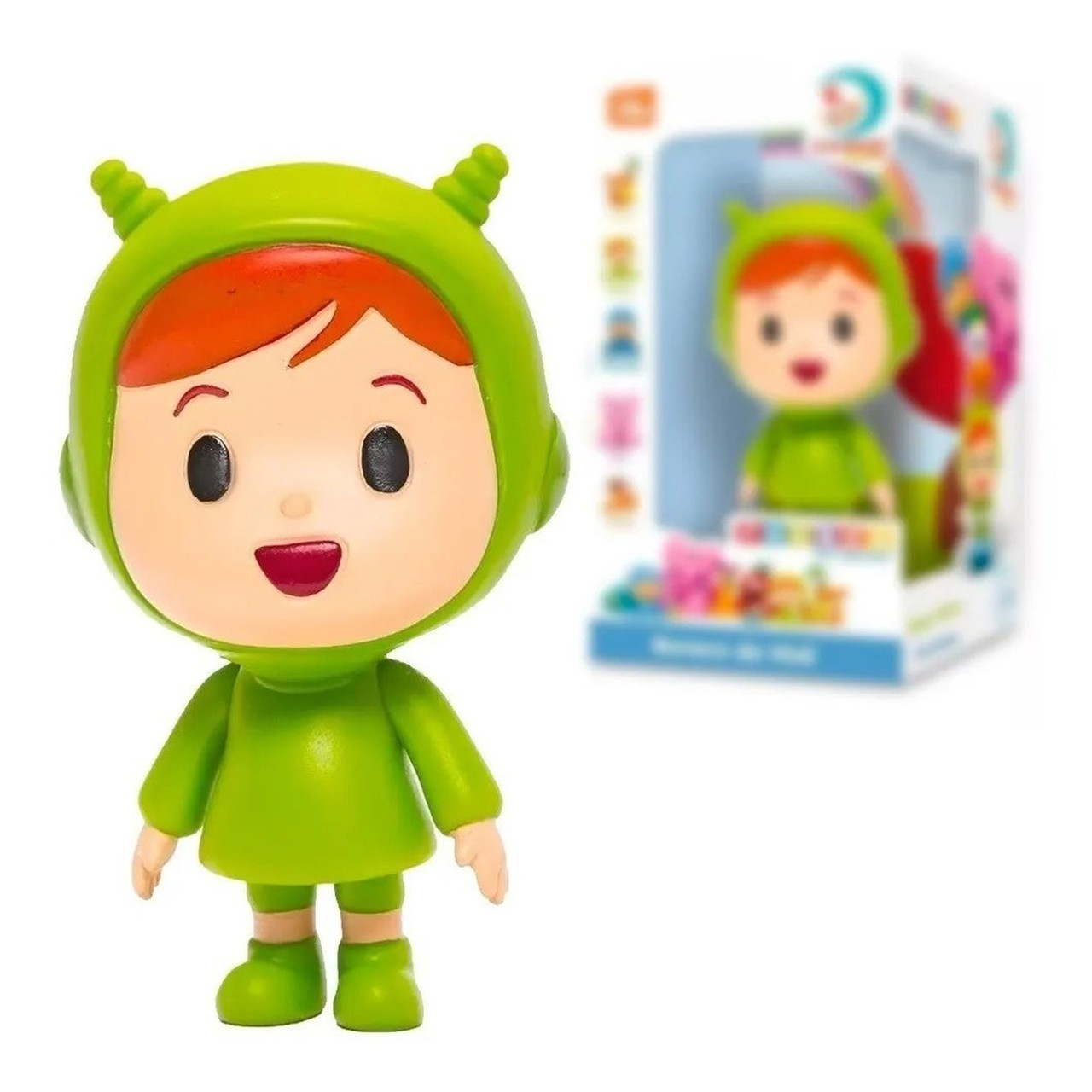 Boneco Pocoyo de Vinil - Figura Nina - Cardoso Toy Original