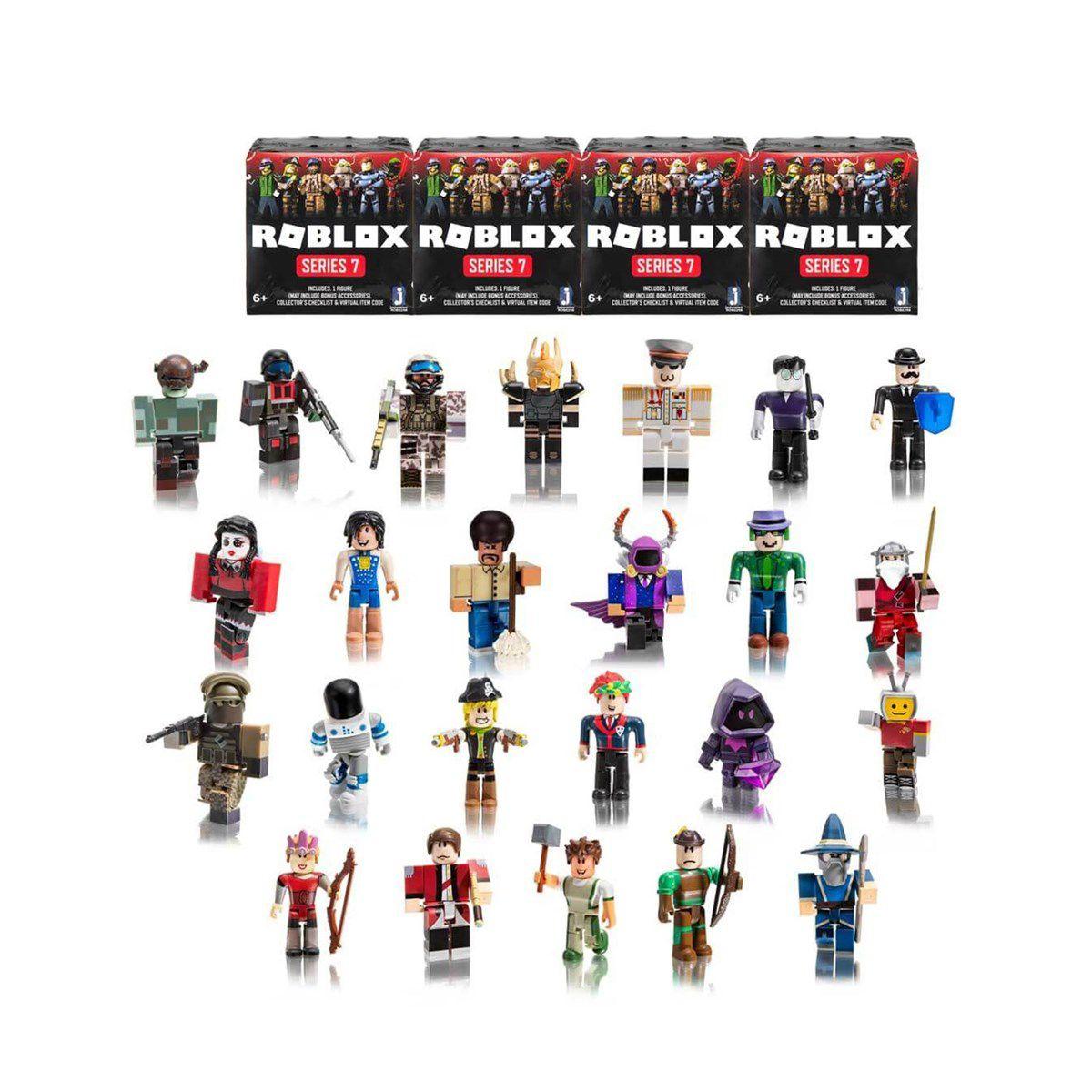 Boneco Roblox Figura Surpresa e Acessórios + Código Virtual
