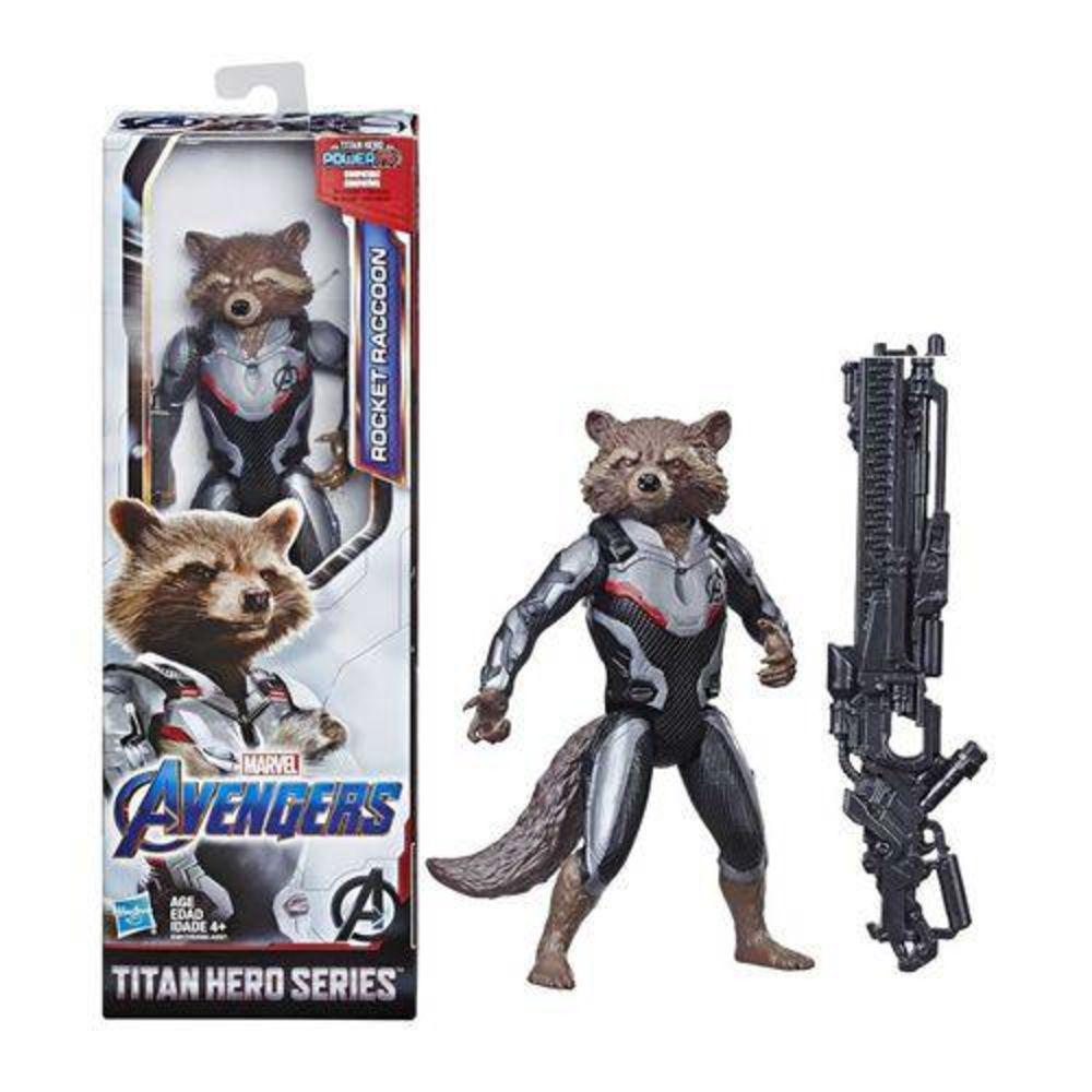 Boneco Rocket Raccoon Marvel Avengers Titan Hero Series