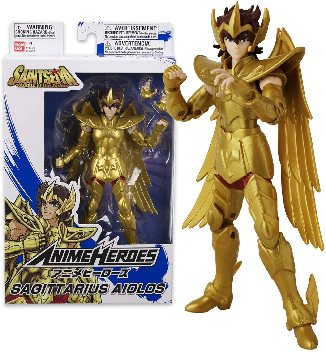 Boneco Cavaleiros do Zodiaco Anime Heroes - Sagitario Aiolos - Bandai