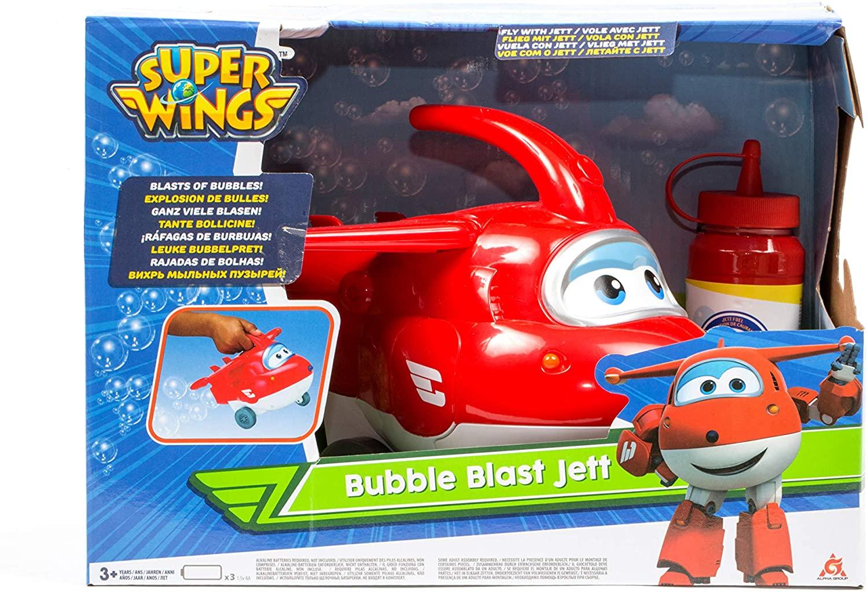 Boneco Super Wings - Jett Explosão de Bolhas - Original Fun