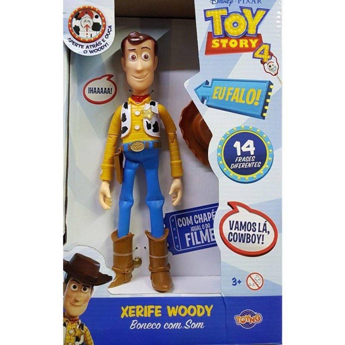 Boneco Toy Story - Woody Falante 14 Frases 30cm Toyng Disney