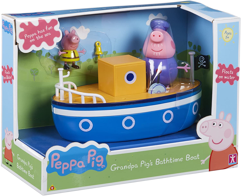 Brinquedo Peppa Pig Barco Vovô Pig - Flutua na Água - Sunny