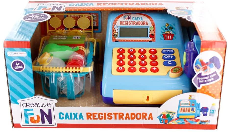 Caixa Registradora Creative Fun Azul - Multikids BR386