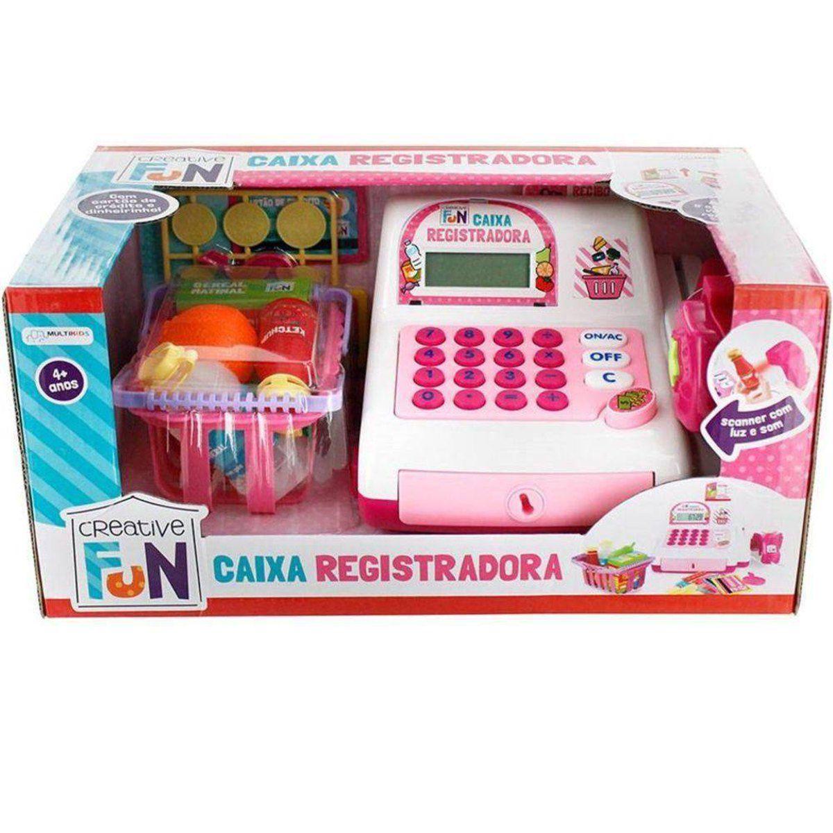 Caixa Registradora Creative Fun Rosa - Multikids BR387