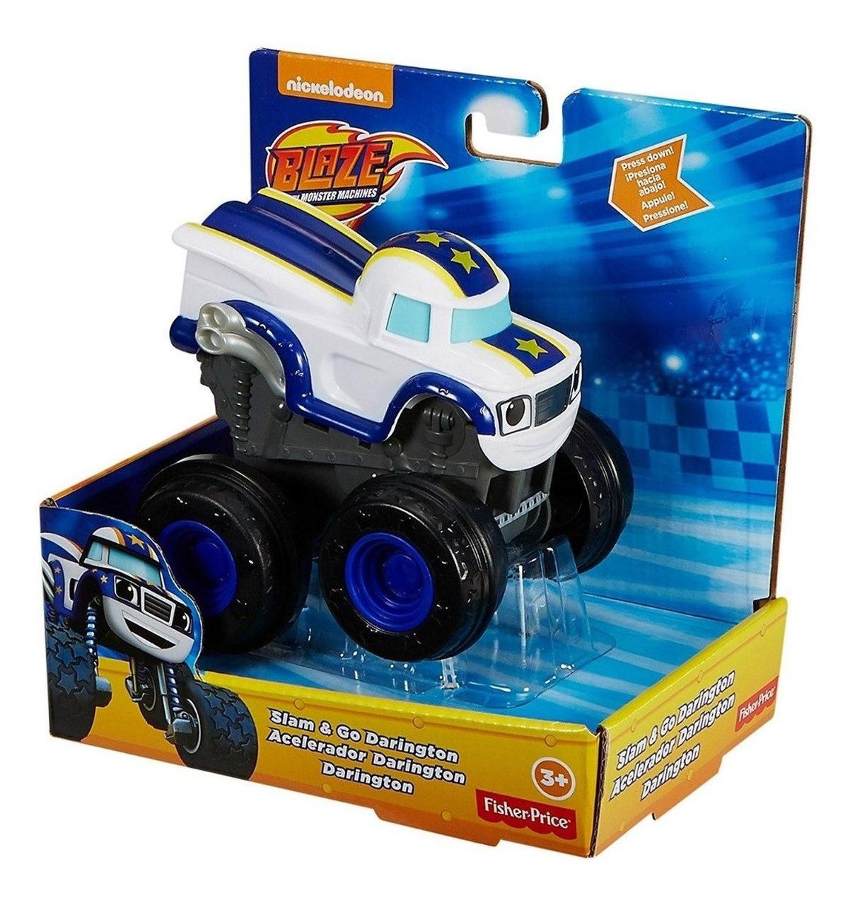Carro Blaze Monster Machine - Slam Go Darington Fisher Price