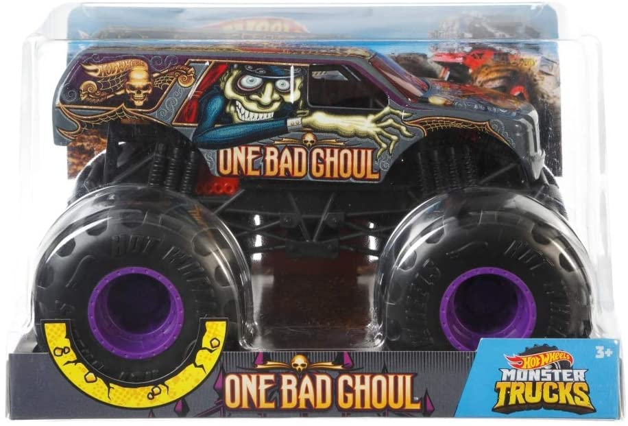 Carro Hot Whells Monster Truck 1:24 - One Bad Choul - Mattel