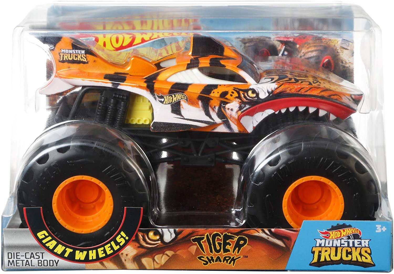 Carro Hot Whells Monster Truck 1:24 - Tiger Shark - Mattel