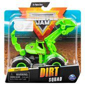 Carro Monster Jam  - Digz - Dirt Squad - Escala 1:64 - Original