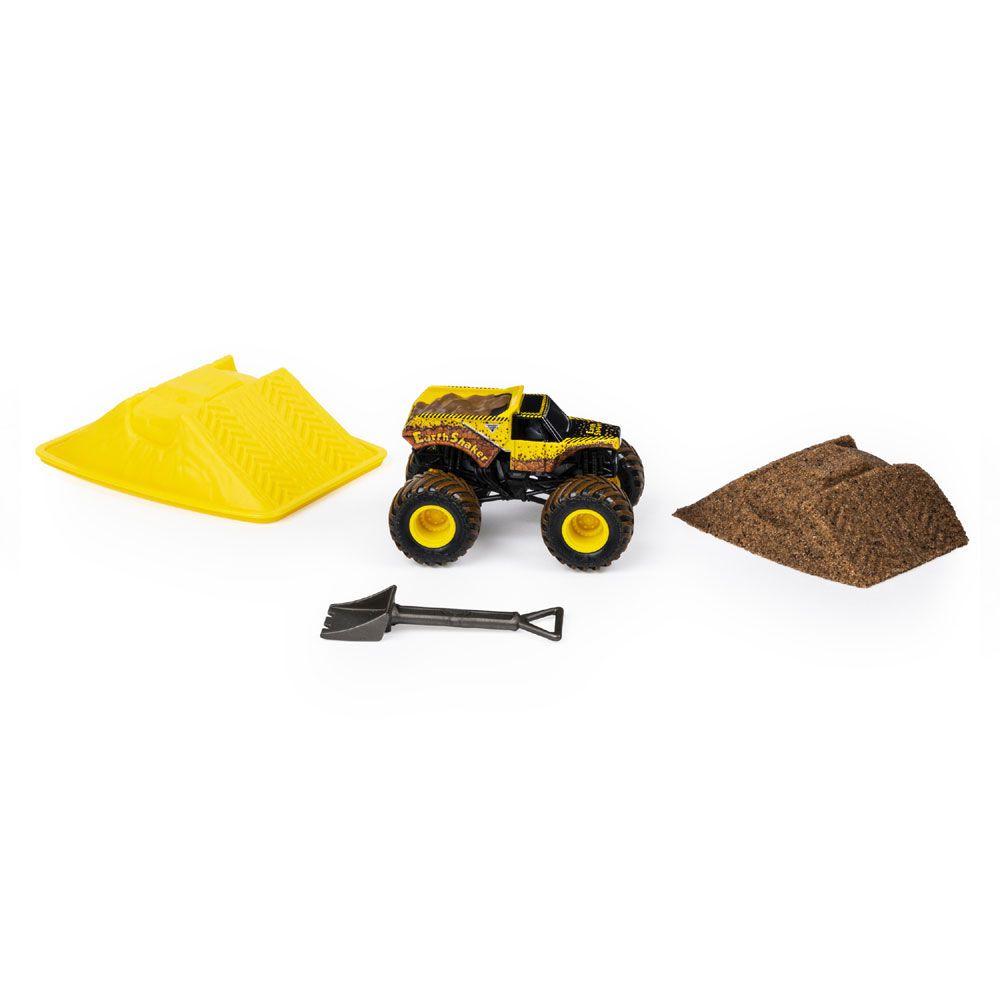 Carro Monster Jam - Earth Shaker - Monster Dirt Starter Set Escala 1:64 - Sunny Original