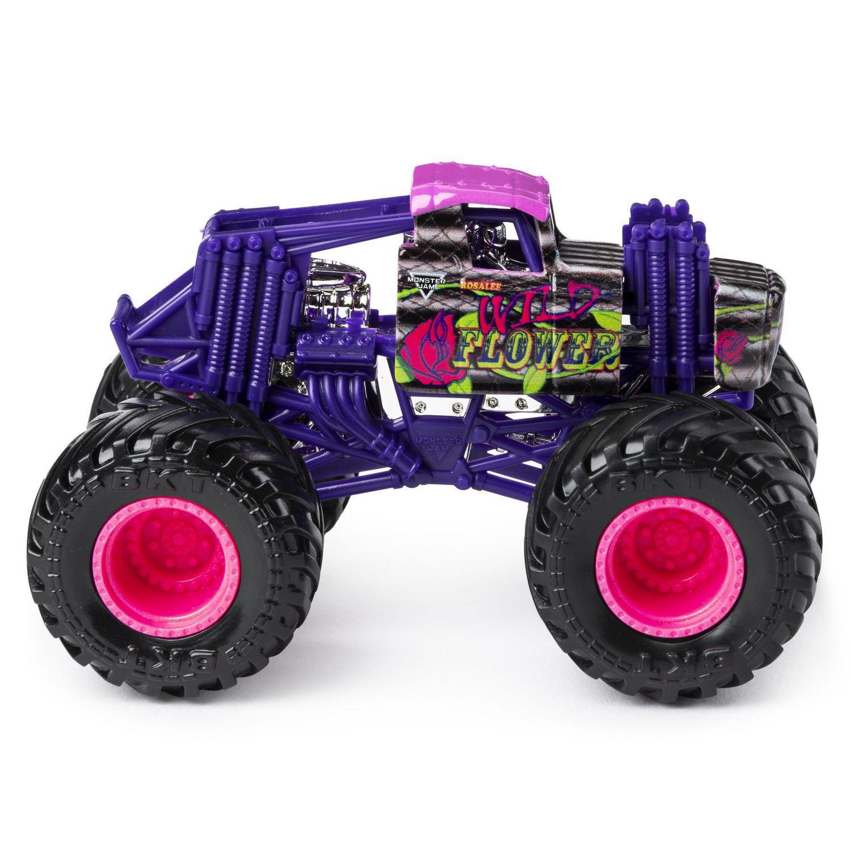 Carro Monster Jam Truck - Wild Flower - Escala 1:64 Original