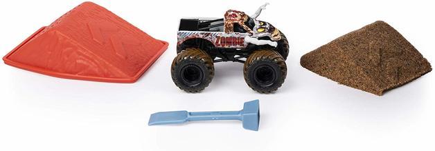 Carro Monster Jam - Zombie - Monster Dirt Starter Set Escala 1:64 - Sunny Original