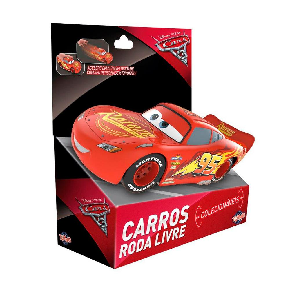 Carros Brinquedo - Relâmpago McQueen - 13 cm - Toyng Disney