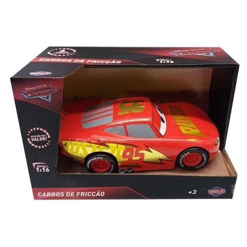 Carros Fricção 22cm - Relâmpago Mcqueen Filme - Toyng Disney
