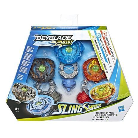 Conjunto 3 BeyBlade Burst Slingshock - Elemento X - Hasbro