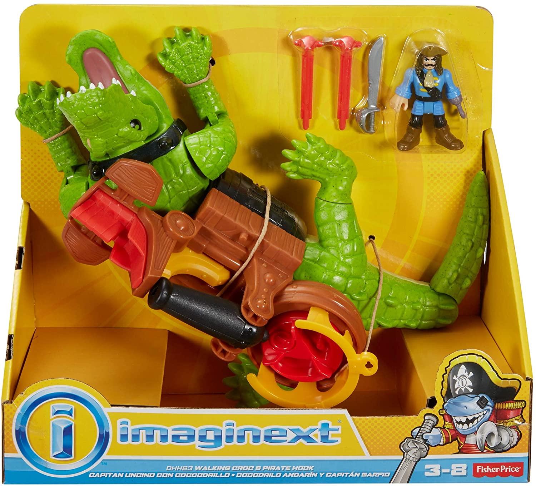 Brinquedo Imaginext - Crocodilo e Capitão Gancho - Mattel