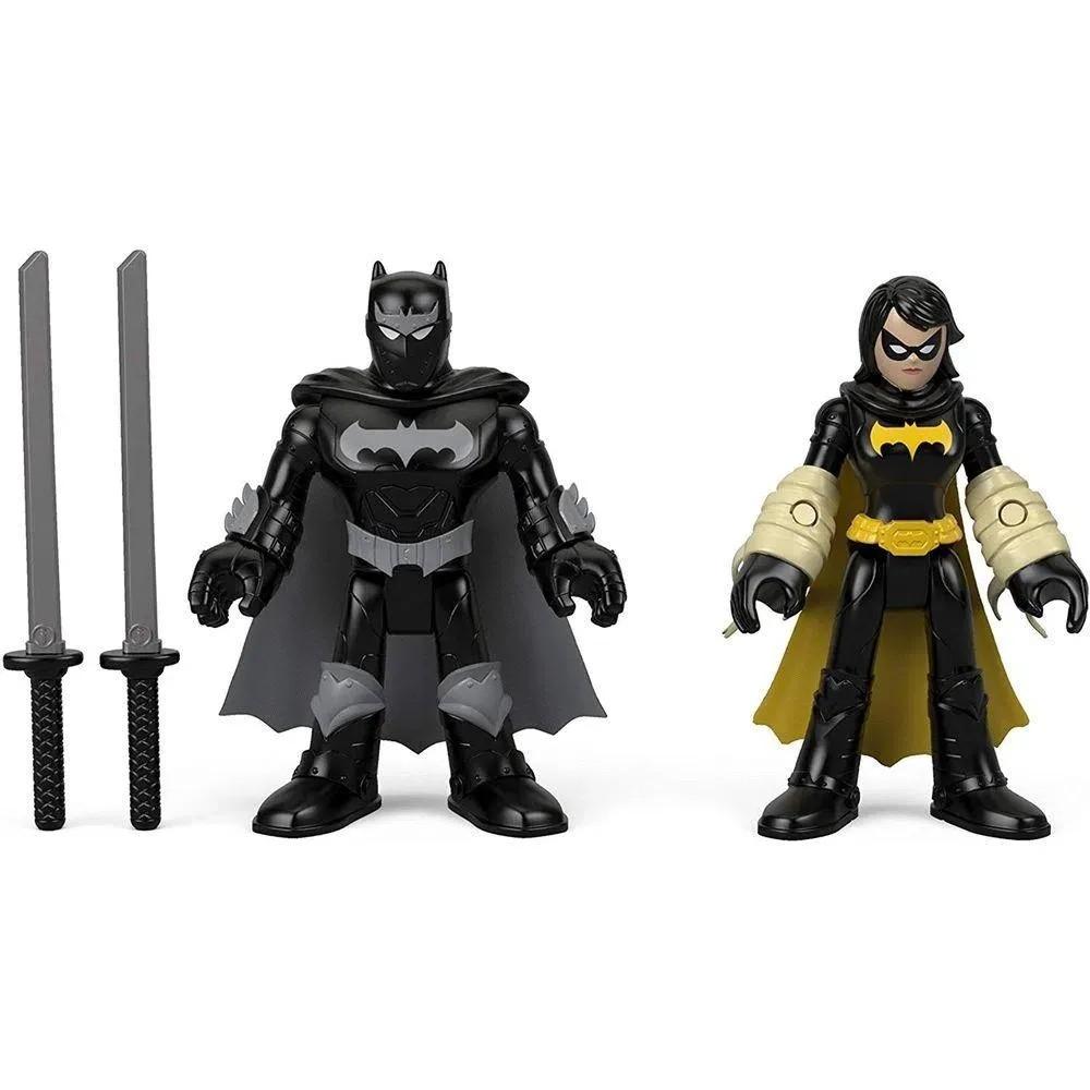 Dc Super Friends Imaginext - Black Bat & Batman Ninja - Mattel
