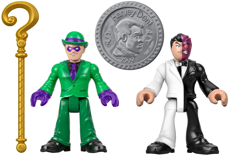 Dc Super Friends Imaginext - Charada & Duas-Caras - Mattel