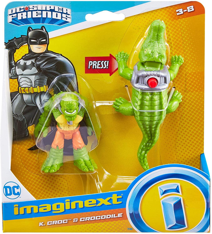 Dc Super Friends Imaginext - Croc & Crocodilo - Mattel