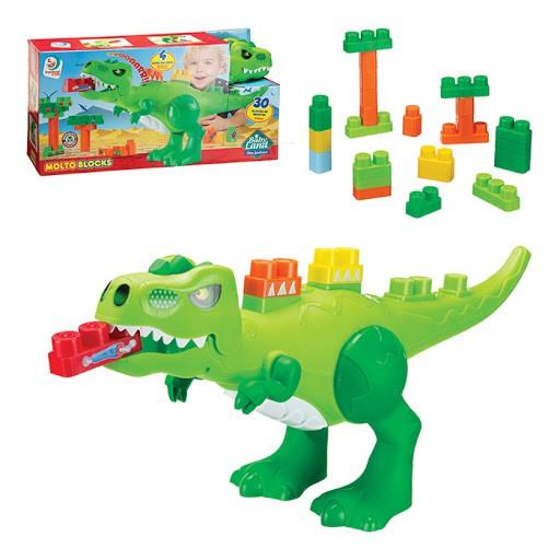 Dino Jurássico Baby Land - 30 Blocos de Montar Cardoso Toys