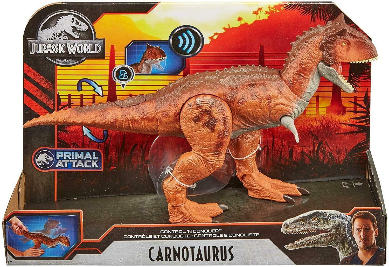 Dinossauro Carnotaurus c Sons Jurassic World Primal Attack