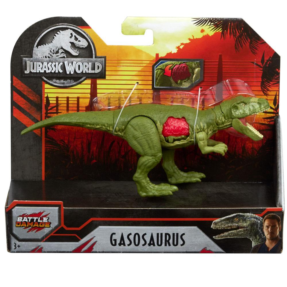 Dinossauro Gasosaurus Jurassic World Battle Damage - Mattel