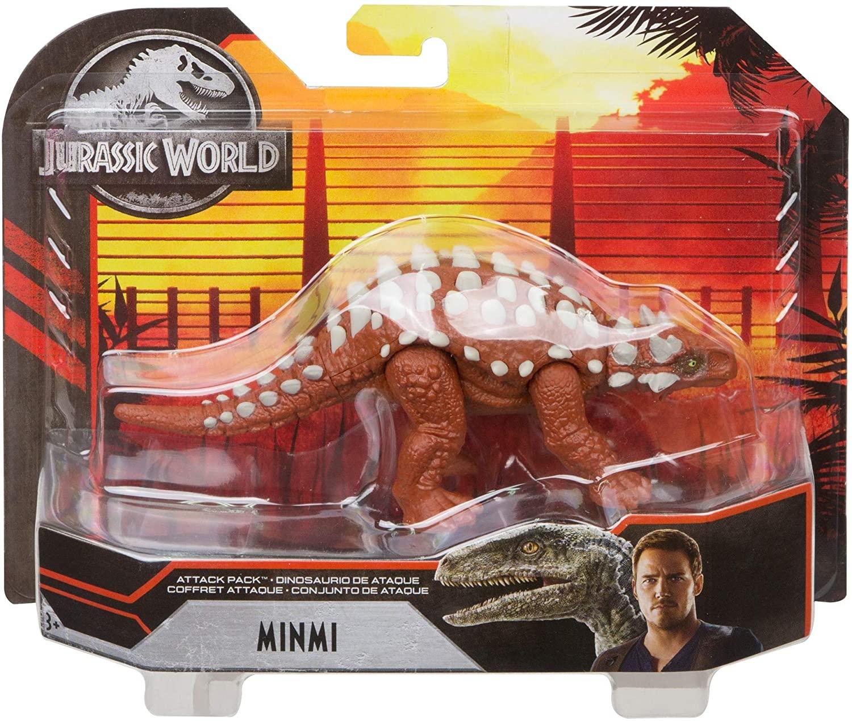 Dinossauro Minmi Jurassic World Attack Pack - Mattel