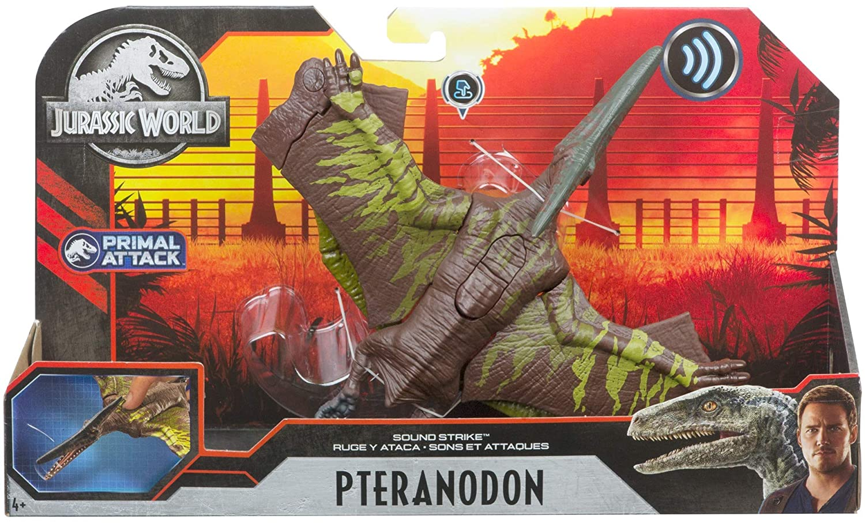 Dinossauro Pteranodon c/ Sons Jurassic World Attack - Mattel