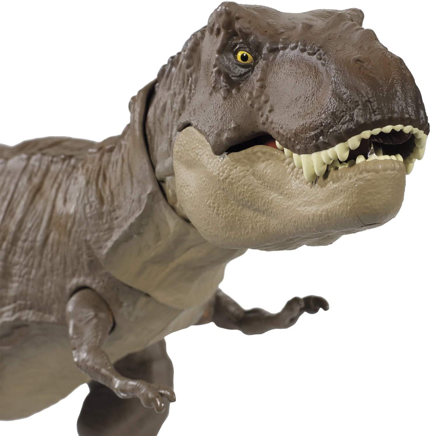 Dinossauro Tiranossauro Rex Mordida - Jurassic World Mattel