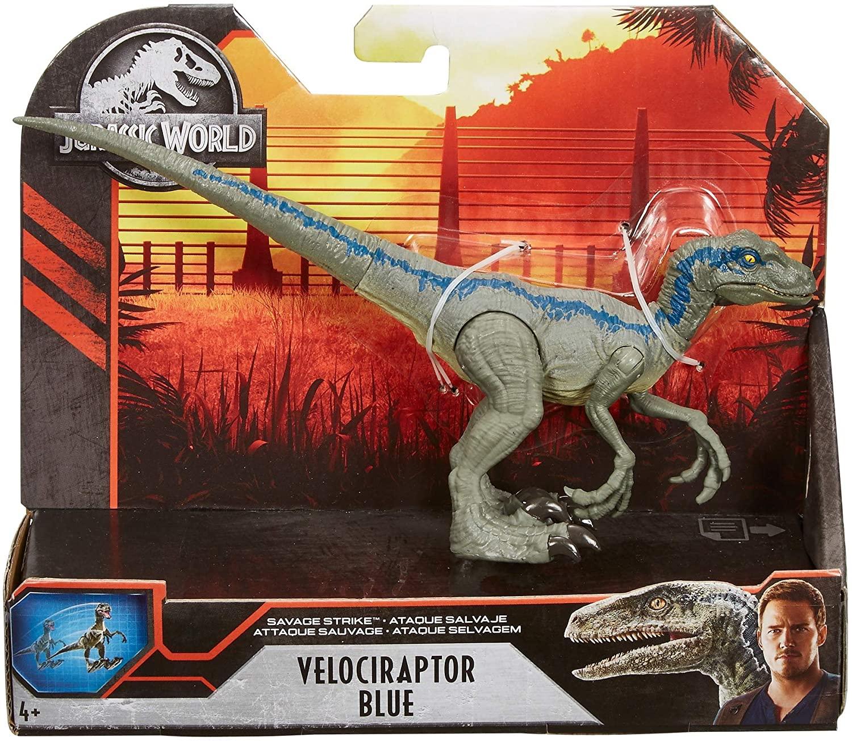Dinossauro Velociraptor Blue Jurassic World Savage Attack - Mattel