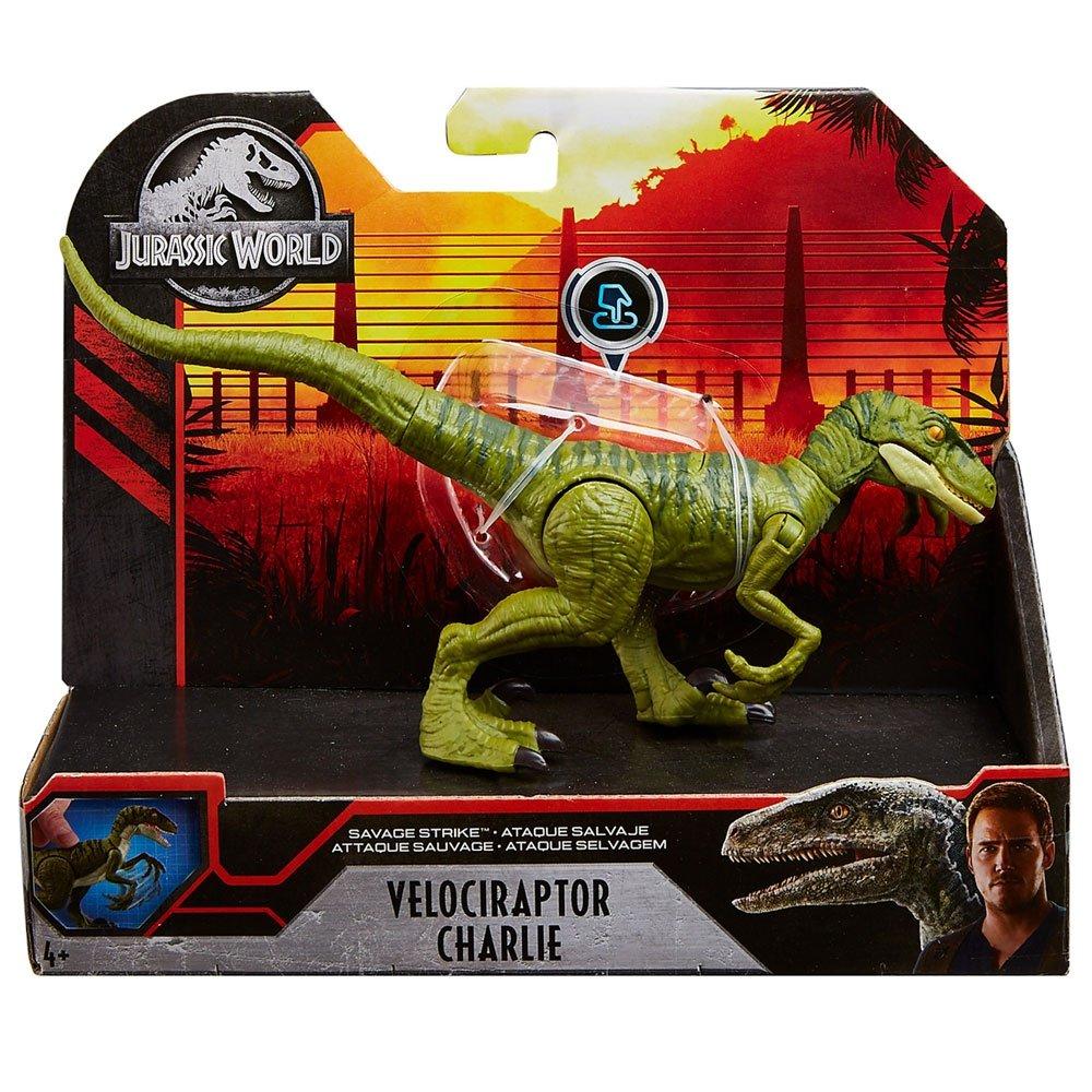 Dinossauro Velociraptor Charlie Jurassic World Savage Attack - Mattel