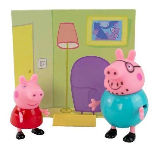 Figuras da  Peppa - Papai Pig e  Peppa Pig - Sunny 2300