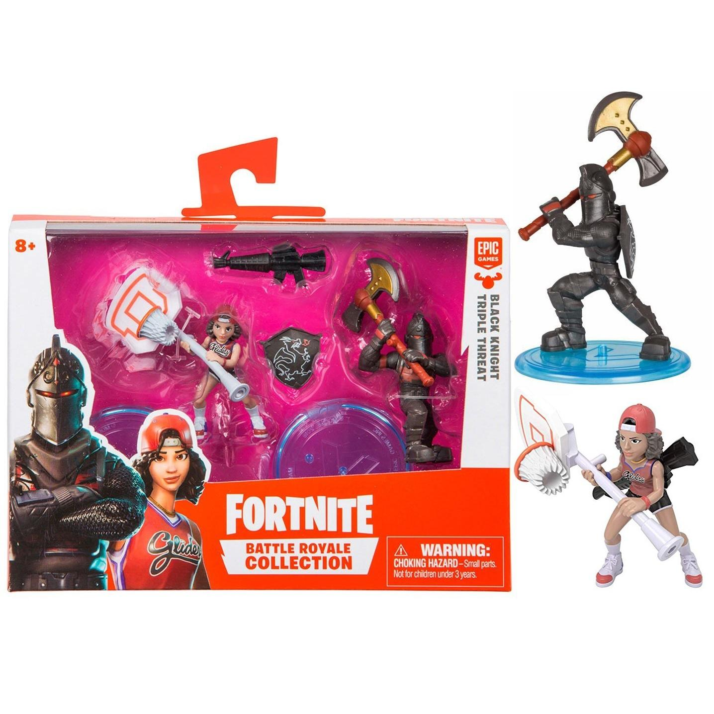 Fortnite 2 Mini Figuras - Black Knight & Triple Threat - Original