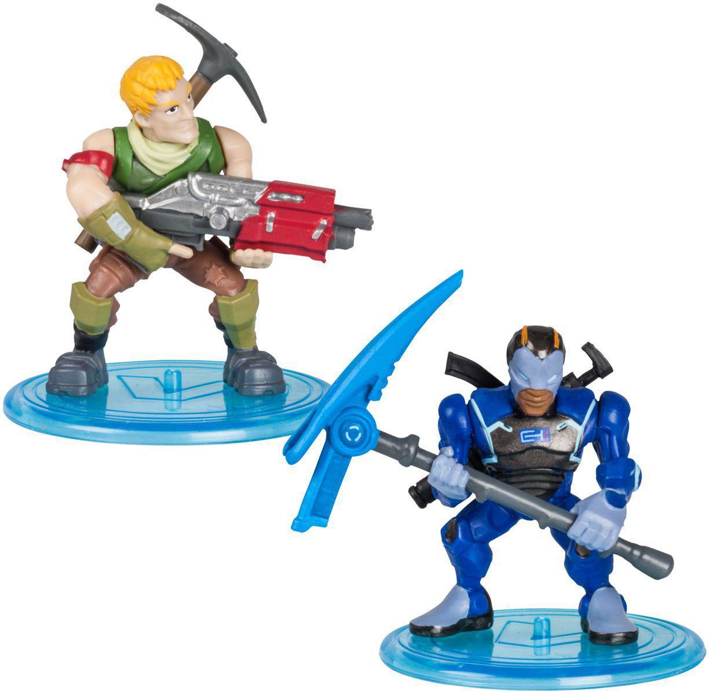 Fortnite 2 Mini Figuras - Sergeant Jonesy & Carbide - Original