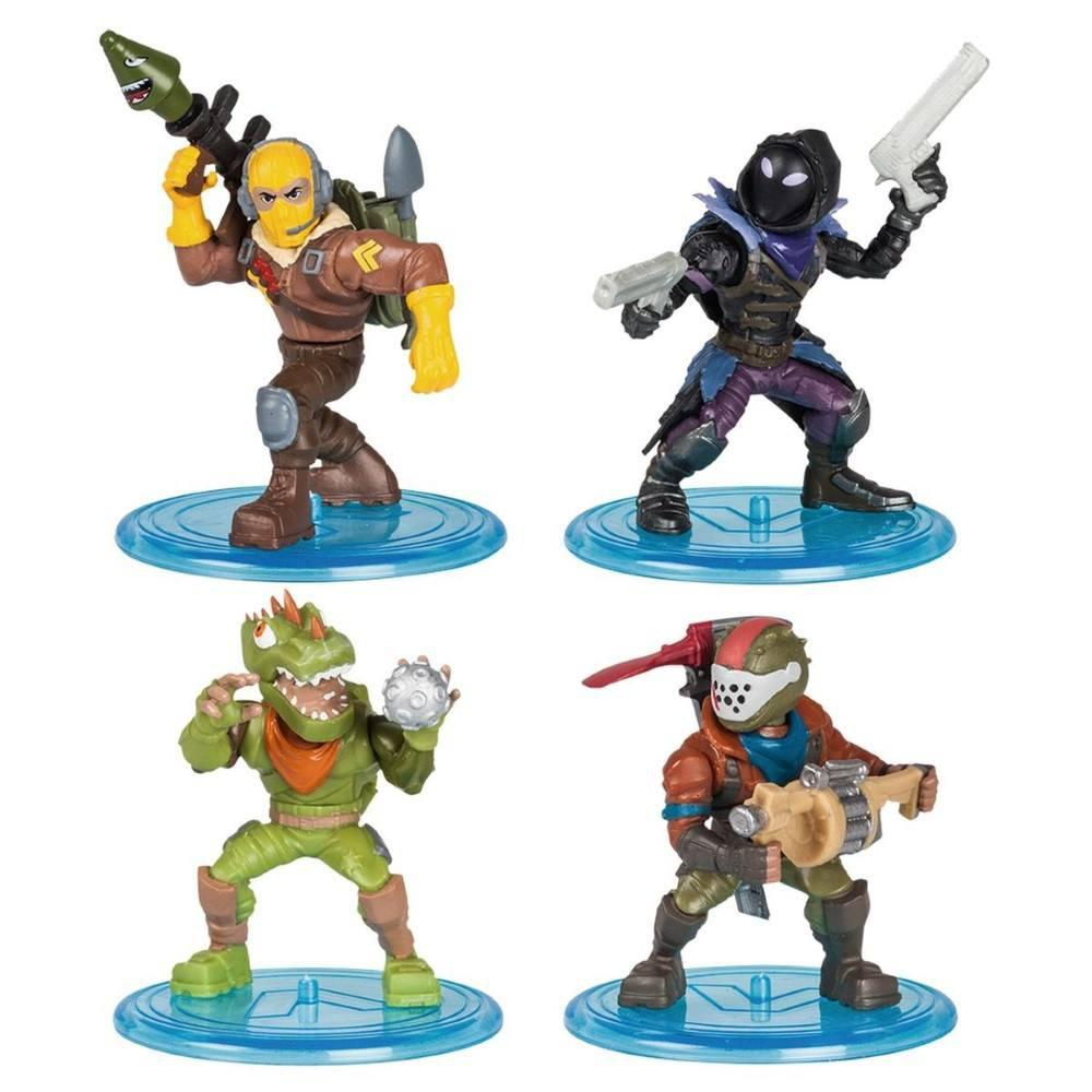 Fortnite 4 Mini Figuras e Acessórios Battle Royale Collection - Original