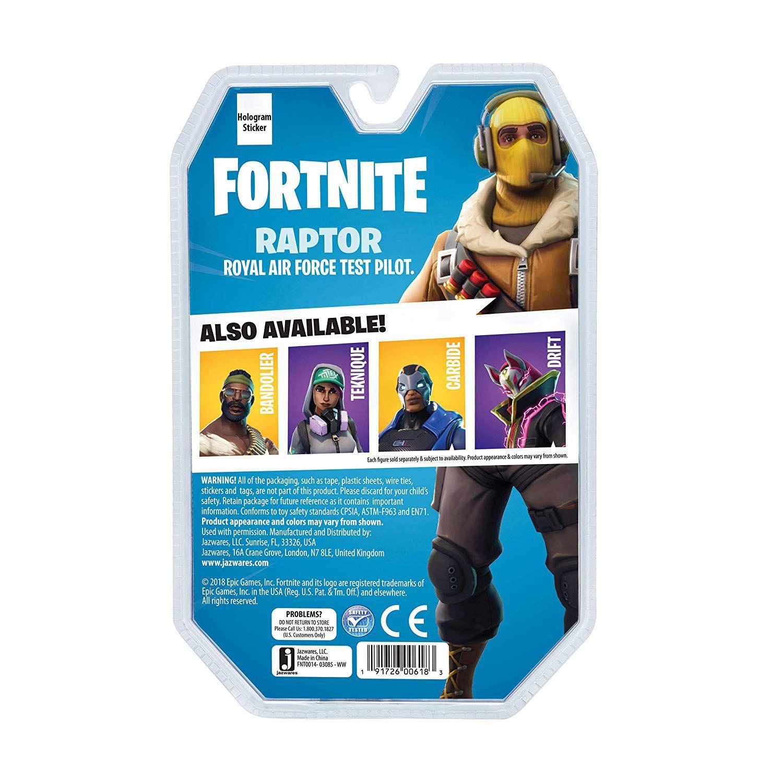 Fortnite - Boneco Raptor - Solo Mode - 11 cm - Original