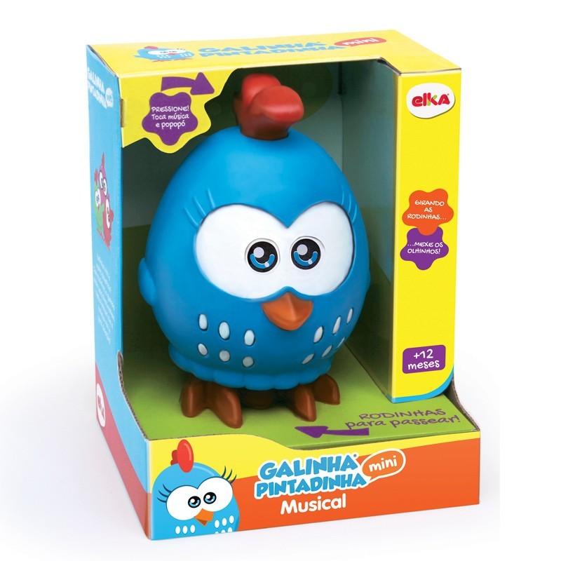 Boneco Galinha Pintadinha 20cm - Brinquedo Musical - Elka