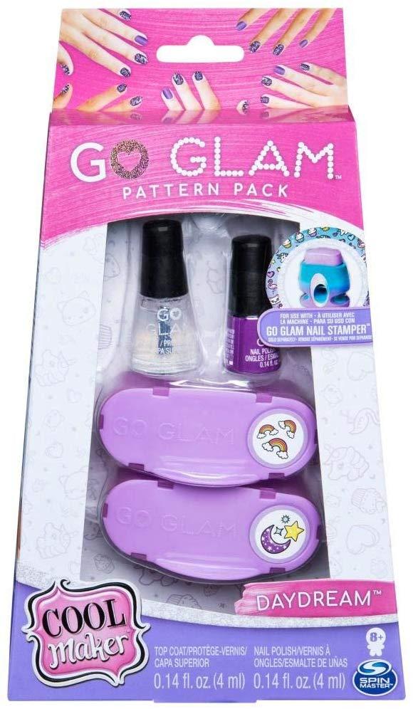 Go Glam - Kit de Esmalte Roxo - Kit de Decorar Unhas - Sunny