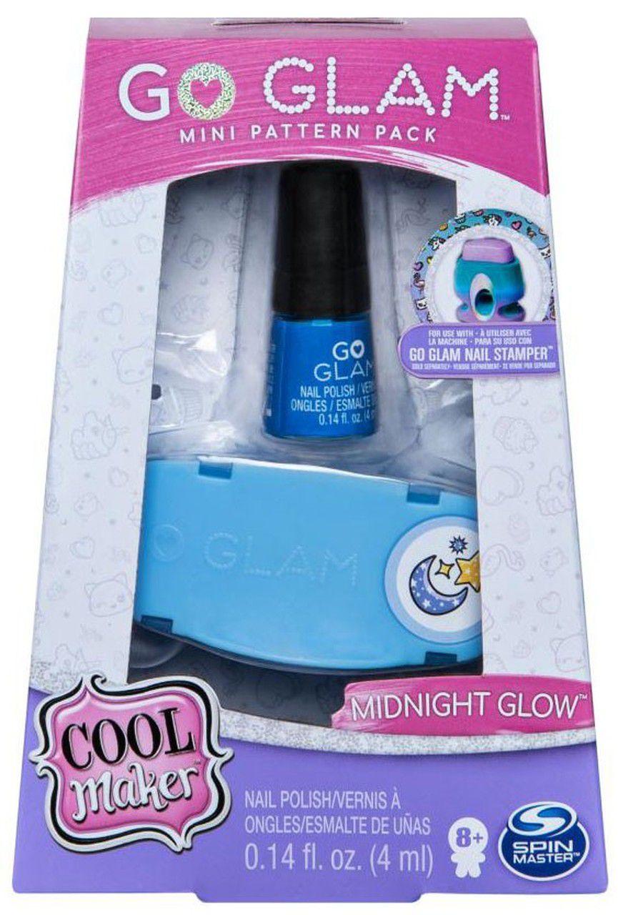 Go Glam - Kit  Esmalte Midnight Glow - Decorar Unhas - Sunny