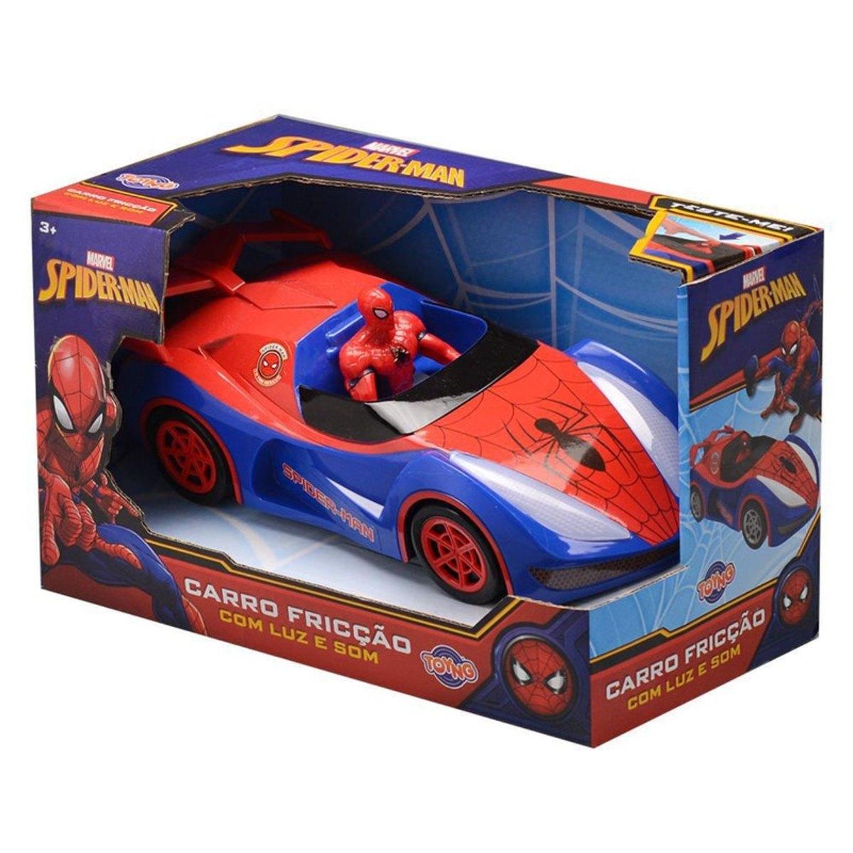 Homem Aranha Carro de Fricção com Luz e Som - Marvel Toyng