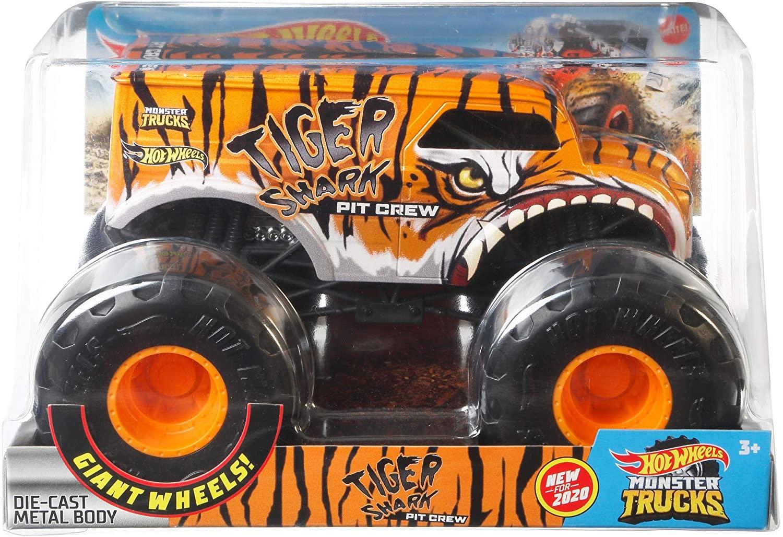 Hot Whells Monster Truck 1:24 - Tiger Shark - Mattel