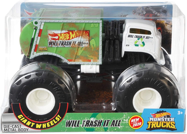 Hot Whells Monster Truck 1:24 - Will Erash It All - Mattel