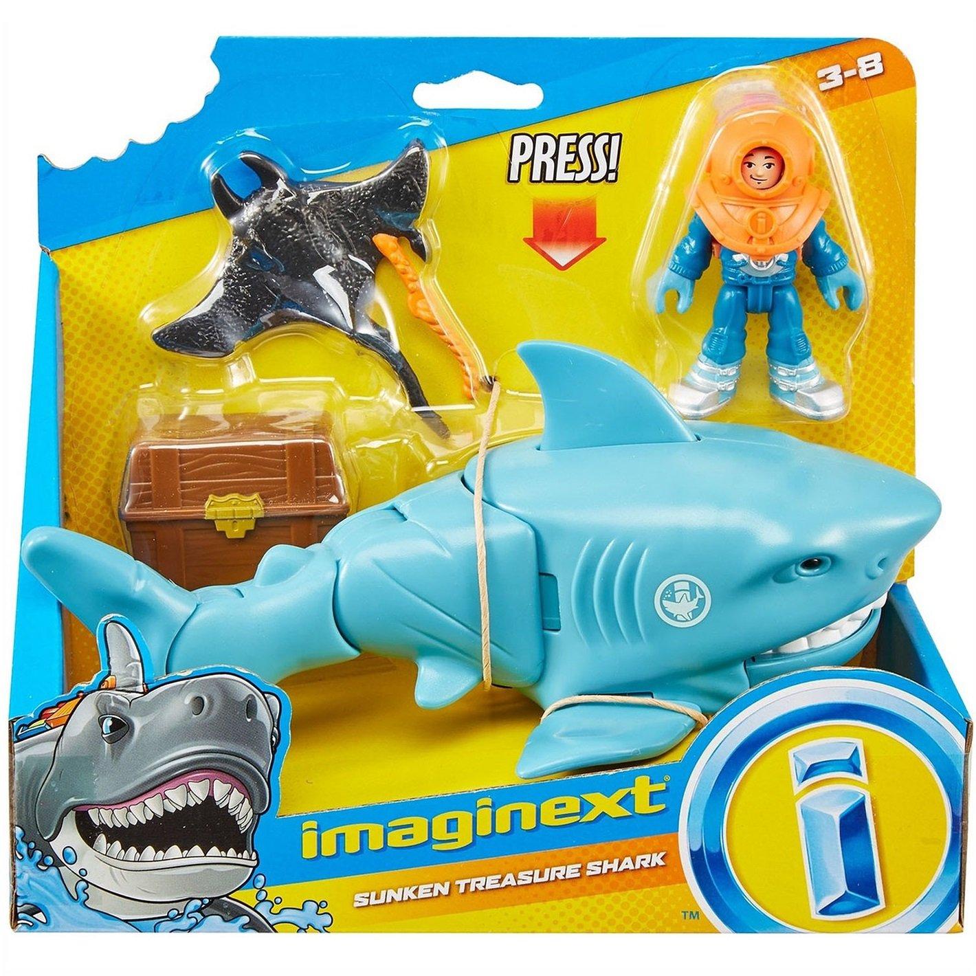 Brinquedo Imaginext Oceano - Tubarão e Mergulhador - Mattel
