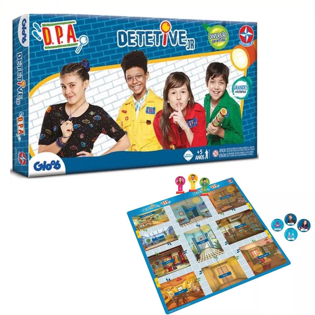 Jogo Detetive Juniro DPA - Caixa Azul - Estrela Original