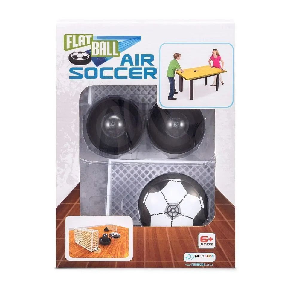 Jogo Flat Ball Air Soccer - Futebol De Mesa - Multikids - BR373