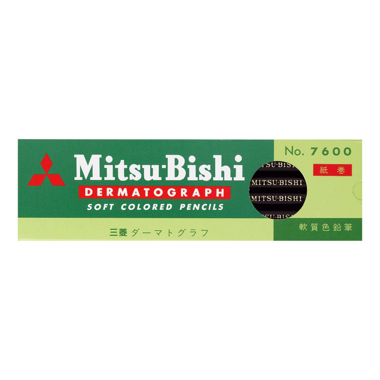 Lápis Dermatográfico Mitsubishi 7600 Preto cx.12 Unidades