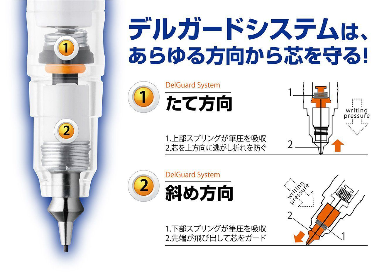 Lapiseira Zebra Delguard 0.7mm cor preto - Japan