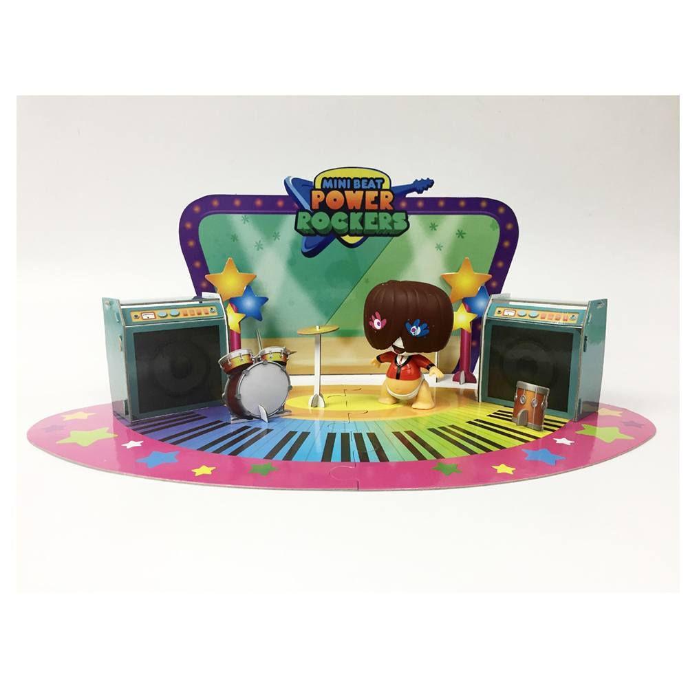 Mini Beat Power Rockers com PlaySet 3D Fuz Multikids - BR995