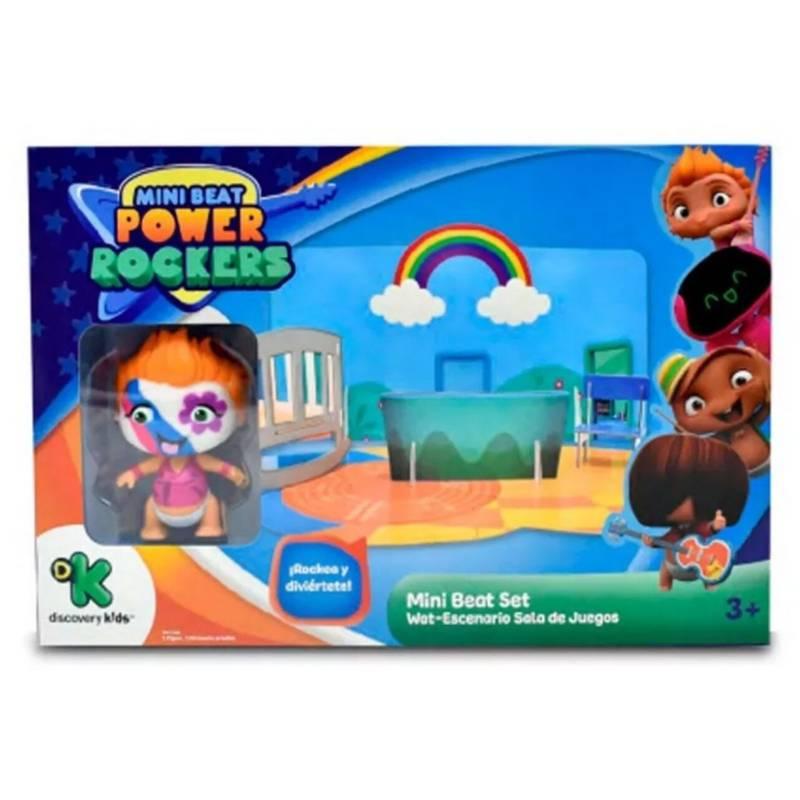 Mini Beat Power Rockers com PlaySet 3D Wat Multikids - BR995